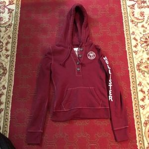 Hollister Button Pullover Hoodie